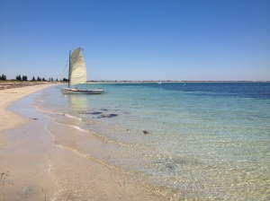 Sailboats in Safety Bay and the Shoalwater Islands Marine Park. ©Summer Wilms2014