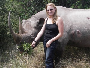 Summer befriends a black rhino.